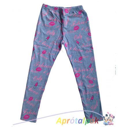 Feliratos leggings-6év (szürke)