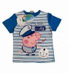 Peppa póló 3év-8év (kék-fehér)