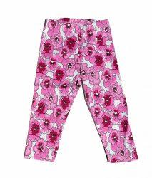 Virág mintás leggings 3/4-es 104-128 (3/4-es)