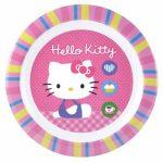 Hello Kitty műanyag lapostányér