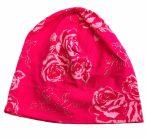 Rózsás pamutos sapka 48-52 (pink)