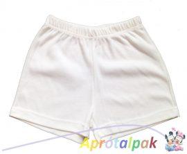 Fehér rövidnadrág 116-os (kisebb)