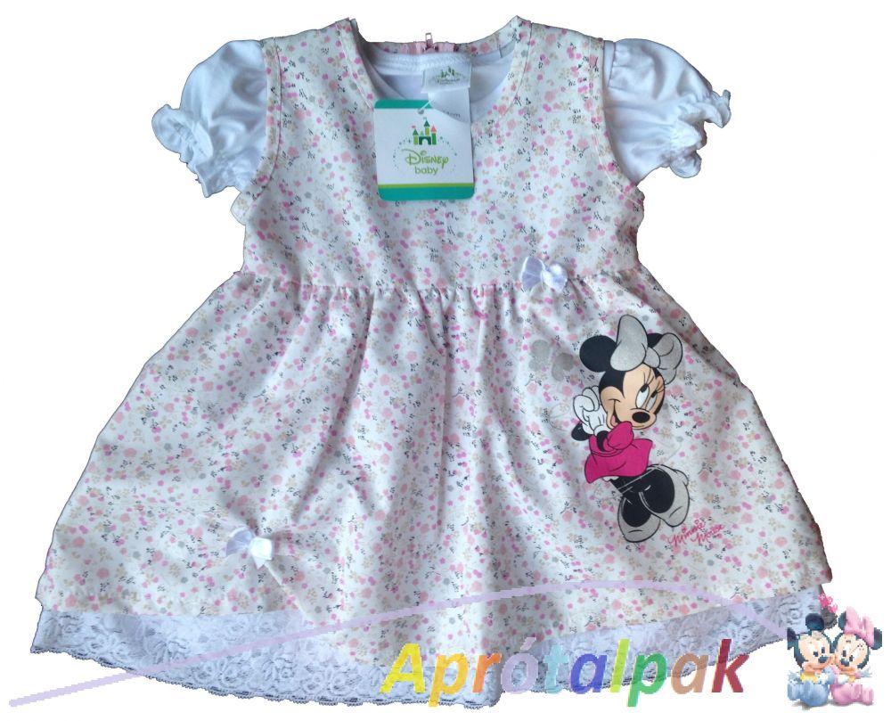 Minnie lányka ruha pólóval 74-104 - aprótalpak eccdb261b7