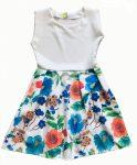 Virágos lányka ruha  128-158