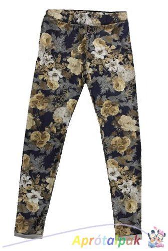 Virág mintás leggings 134-170