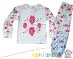 Virág mintás pizsama 86-os