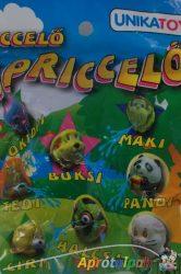 Spriccelő játék különböző figurákkal