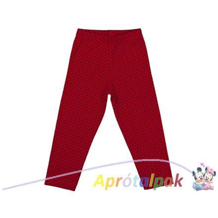 Piros leggings 116-os