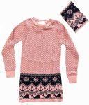Kötött lányka ruha/tunika (nyaksállal) 140-164